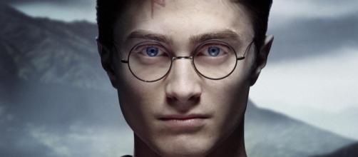 Harry Potter en Hogwarts, imagend de la película
