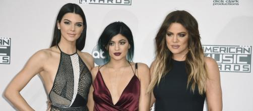 Kylie Jenner with her two other famous sisters