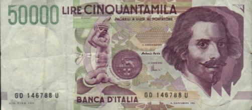 La vecchia banconota da 50mila lire