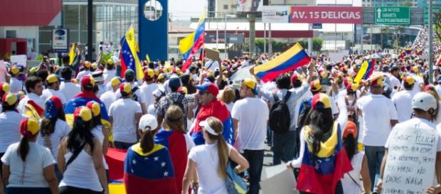 Marcha de protesta en Venezuela