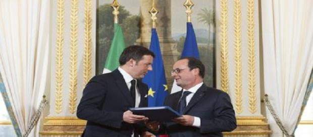 Matteo Renzi ha incontrato Hollande