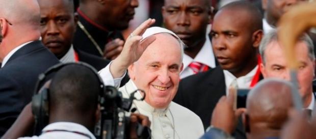 Papa Francisco em sua visita a África