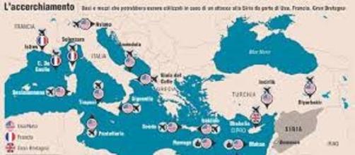 Basi e mezzi per attaccare la Siria