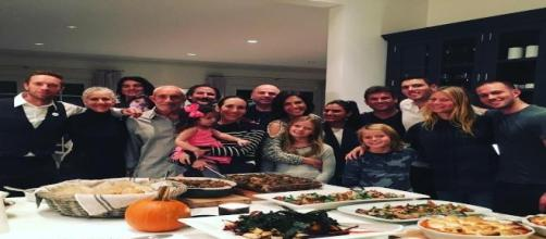 Gwyneth and Chris share Thanksgiving.
