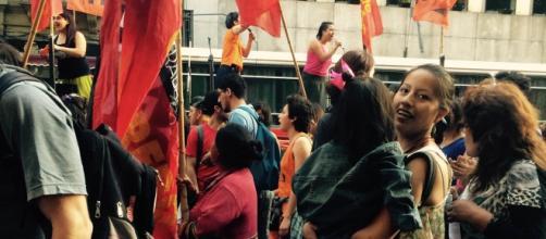 Marcha desde Congreso a Plaza de Mayo.