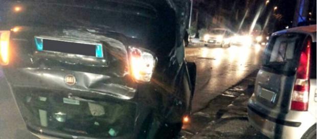 Auto coinvolto nello scontro di Via Turati