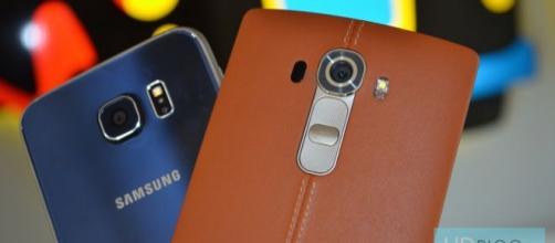 I due top di gamma Samsung Galaxy S6 e LG G4