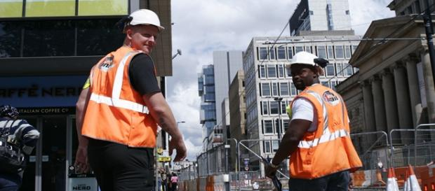 Trabajadores europeos. Manchester. Al Esnaporaz