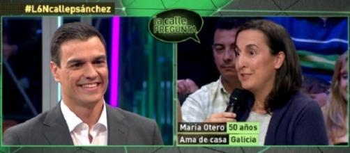 Pedro Sánchez anoche en 'La Calle Pregunta'.