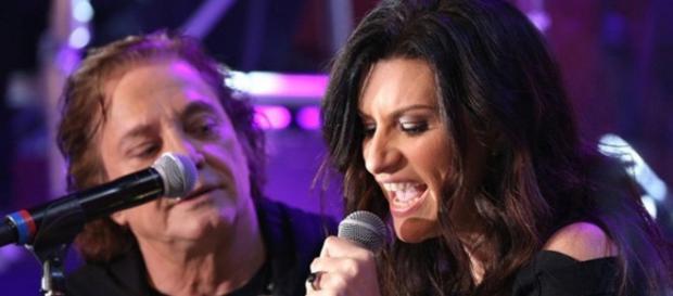 Fábio Jr. e Laura Pausini (Foto: Divulgação)