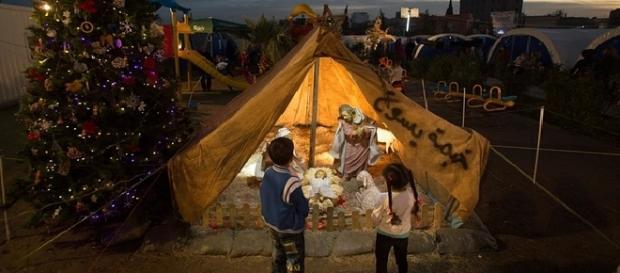 Święta Bożego Narodzenia w obozie dla uchodźców