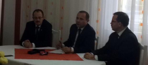 Vicepreşedintele Dan Sârbu şi Aurelian Pavelescu