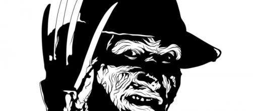 Caricatura en tinta de Freddy Kruger