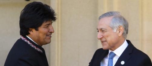 El presidente de Bolivia y el canciller de Chile.