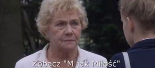 Barbara Mostowiak (Teresa Lipowska) z wnuczką