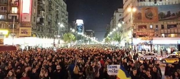 Proteste ample la București. Foto: digi24