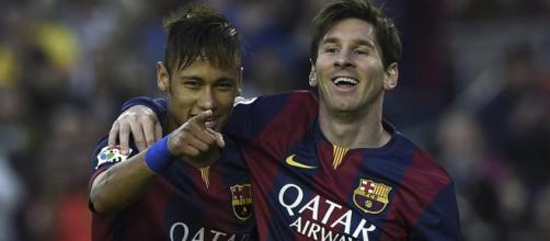 Photo Credit: AFP. Lionel Messi y Neymar Jr.