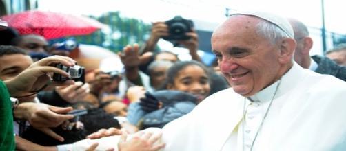 El Papa durante su visita a Río de Janeiro en 2013