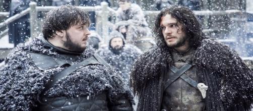 Sam y Jon, en un fotograma de 'Juego de Tronos'