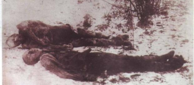 Cadavre ale soldatilor romani morti la Marasesti
