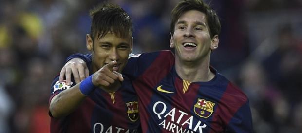 Photo Credit: AFP. Lionel Messi y Neymar Jr.