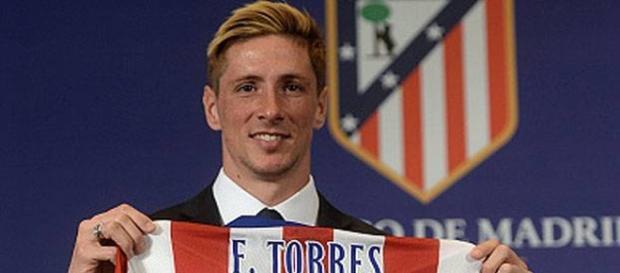 Fernando Torres, en su regreso al Atlético