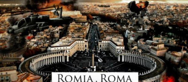 La città di Roma in un'immagine propagandistica