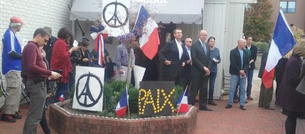 Rassemblement après les attentats du 13 novembre