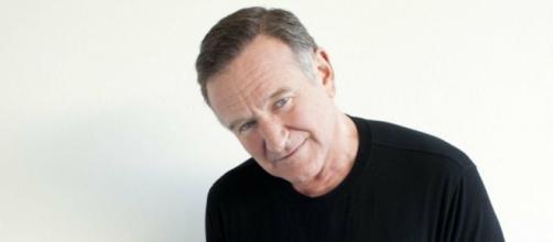 Una foto con l'attore Robin Williams