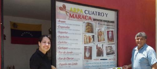 Zobeida, en su restaurante en México.