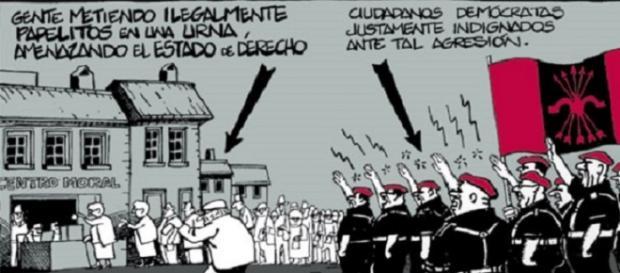 Chiste de Ferreres en El Periódico con la Falange.