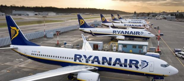 Gli aerei della compagnia di volo Ryanair