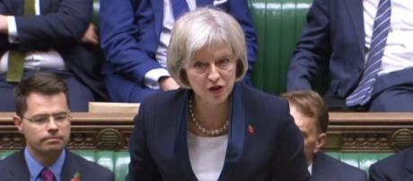 Home Secretary Theresa May introducing the Bill