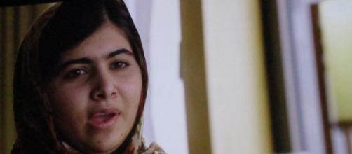 Malala durante una de las escenas de la película