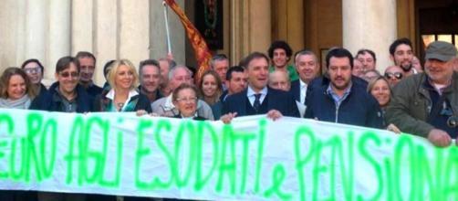 Riforma pensioni, Salvini protesta a Padova