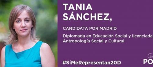 Tania Sánchez, candidata de Podemos/Twiter