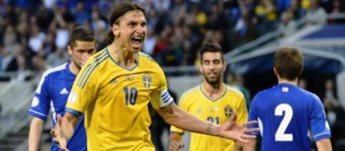 Zlatan Ibrahimovic capitano della Svezia