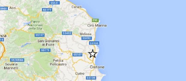Terremoto di magnitudo 2.1 in Calabria.