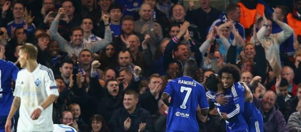 Willian netted Chelsea's winner from a free kick