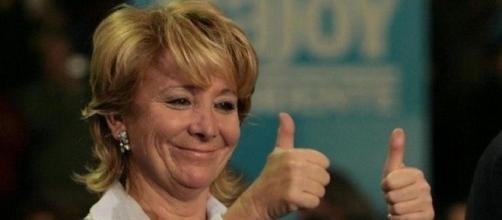 Esperanza Aguirre, feliz, en una imagen de archivo