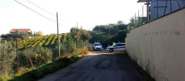 Polizia municipale nel luogo dell'incidente