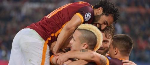 Infortunio Salah-Lulic durante Roma-Lazio