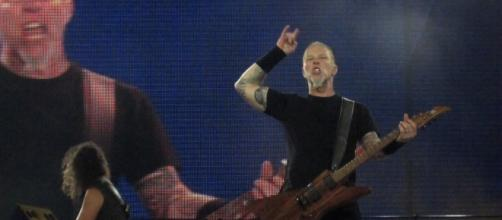 La banda Metallica en concierto