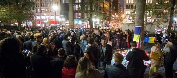 Proteste la New York. Foto: Ionuț Văcar via Digi24