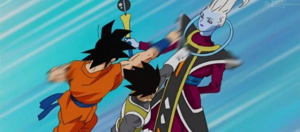 Vegeta y Goku entrenando con Wiss