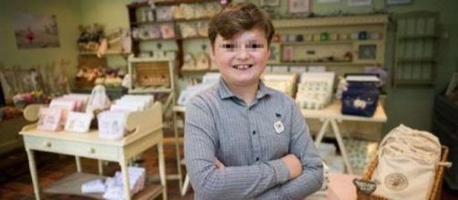 La foto di Henry imprenditore a soli 11 anni