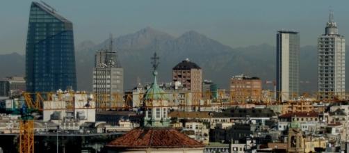 Una immagine dall'alto di Milano