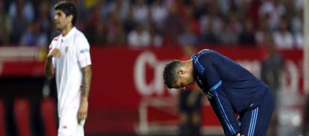 Cristiano, abatido tras la derrota en Sevilla