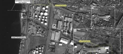 Imagens aéreas divulgadas pela Rússia