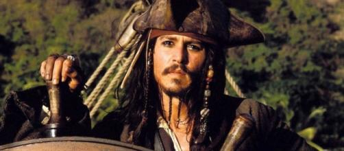 O Ator Johnny Deep como Jack Sparrow